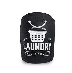 Cesto De Organizador Laundry 15 Litros Preto Secalux