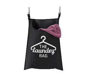 Cesto Laundry Para Porta Preto Secalux