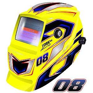 Máscara de Solda Super Tork MTR 9008 Racing Amarela Com Escurecimento Automático