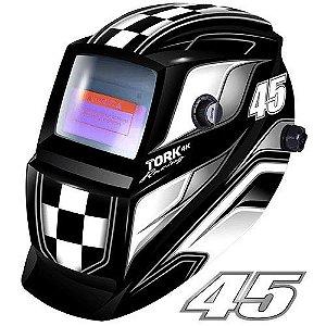 Máscara de Solda Super Tork MTR 9045 Racing 45 Preta Com Escurecimento Automático