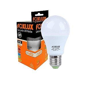 Lâmpada LED FoxLux Bulbo A60 9W Bivolt E27 Luz Amarela 3000K