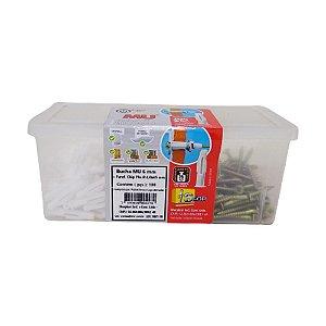 Bucha MU Plástica 6 Com Parafuso Chip PHS 4,0x45 100pçs Sfor