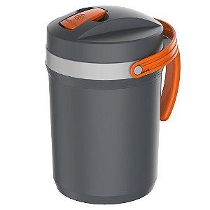 Garrafa Térmica Fliptop 2,5 Litros Cinza Termolar