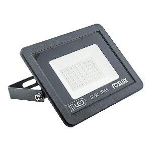 Refletor de LED COB 50W  Luz Branca 6500K Bivolt Foxlux