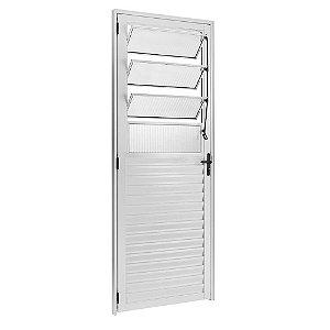 Porta Basculante Esquerda Eco 210x80 Vidro Canelado Branco Esquadrisul