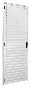 Porta Aluminio Palheta Direita Eco 210x70 Branco Esquadrisul
