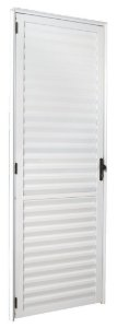 Porta De Aluminio Social Postig Branca Esquerda 2,10X0,90cm Esquadrisul