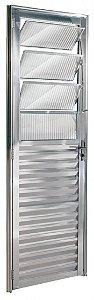 Porta De Aluminio Basculante Direita Ecosul 2,10x0,80cm Brilhante Esquadrisul