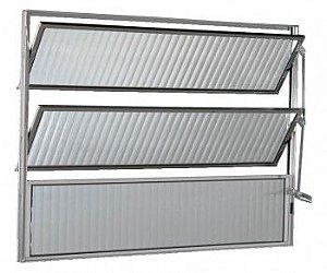 Vitro De Aluminio  Basculante Ecosul 60x60cm Brilhante Esquadrisul