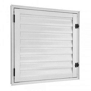 Porta De Aluminio Abrigo Ecosul 60x60cm Branca Esquadrisul