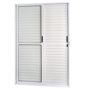 Porta De Correr Aluminio Balcão 3 Folhas Direita 2,10x1,20cm Branca Esquadrisul