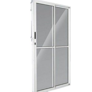 Porta De Correr Aluminio Balcão Direita 2 Folhas 2,10x1,20cm  Branca Esquadrisul