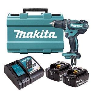 Parafusadeira e Furadeira à Bateria 18V DDF458RFE 220V Makita