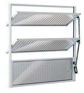 Vitro De Aluminio Basculante Branca 60x60cm Esquadrisul