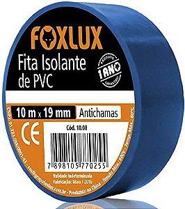Fita Isolante 19MMx10MT Azul Foxlux