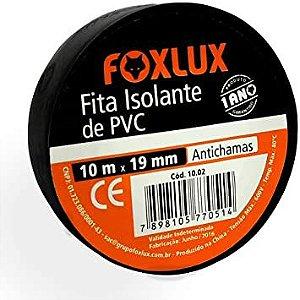 Fita Isolante 19MMx10MT Preta Foxlux