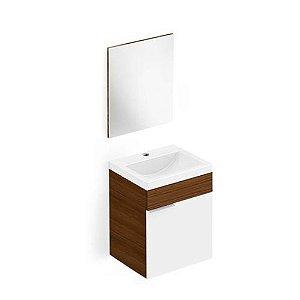 Kit Gabinete Porta+Esp. Avant 41x34x55 Weng Branco Incepa