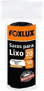 Sacos Para Lixo  Com 20 Unidades De 50 Litros 63x80cm Foxlux