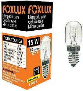 Lâmpada Para Geladeira e Micro-Ondas 15w 127v Foxlux