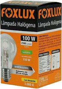 Lâmpada Halógena Classica 100W 127V Foxlux