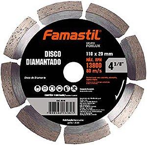 Disco Diamantado Liso Segmentado 4.3/8'' Famastil