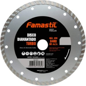 Disco Diamantado Liso Turbo 4.3/8'' Famastil