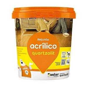 Rejunte Acrílico Marrom Café 1KG Quartzolit