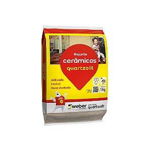 Rejunte Flexível  Cinza Outono 1kg Quartzolit