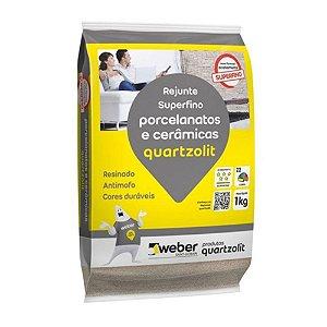 Rejunte Flexível Porcelanato 1KG Cinza Platina  Quartizolit