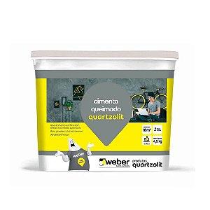 Cimento Queimado Cinza  4,5KG Quartzolit