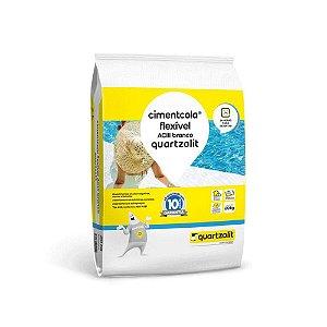 Argamassa AC3 Porcelanato Cimentcola Flexível ACIII Branco 20KG Quartzolit