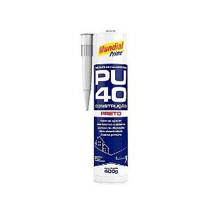 Selante Poliuretano PU40 Preto 400g Mundial