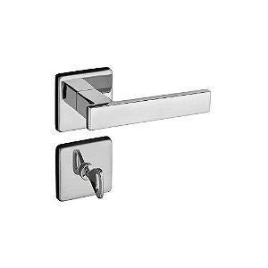 Fechadura Concept Banheiro Roseta Redonda Cromada 40mm Pado