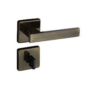 Fechadura Concept Banheiro Roseta Quadrada Bronze 40mm Paado