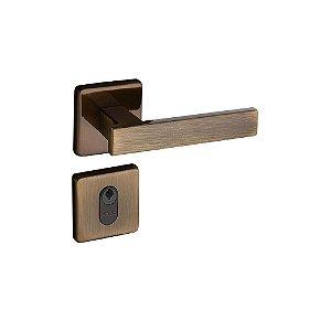 Fechadura Concept Externa Roseta Quadrada Bronze 40mm Pado