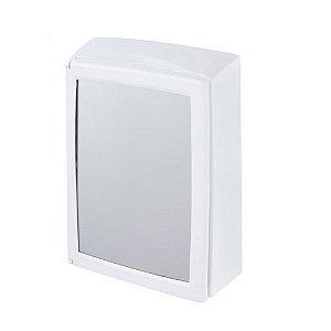 Armário De Plástico Com Porta Sobrepor 30cmx37cmx11cm Branco Astra