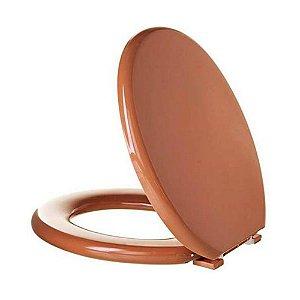 Assento Oval Almofadado Caramelo Astra