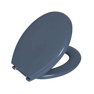 Assento Oval Almofadado Cinza Escuro Astra