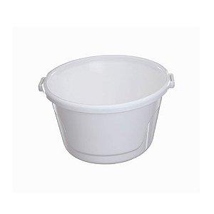 Bacia De Plástico 25 Litros Branco Astra