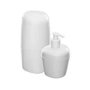 Kit De Acessório Para Banheiro Com 2 Peças Branco Astra
