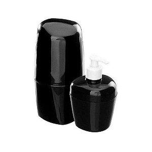Kit De Acessório Para Banheiro Com 2 Peças Preto Astra