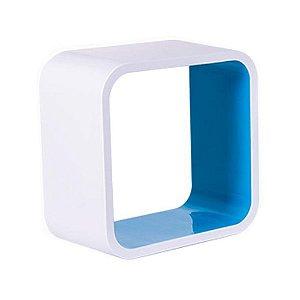 Nicho De Plástico 26cm Branco Com Azul Astra