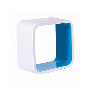 Nicho De Plástico 31cm Branco Com Azul Astra