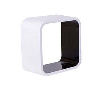 Nicho De Plástico 31cm Branco Com Preto Astra