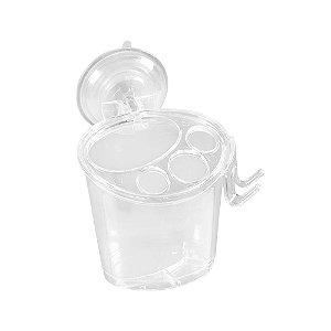 Porta Escova De Plástico Cristal Com Ventosa Astra