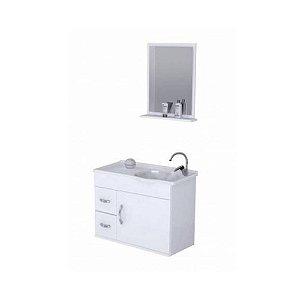 Kit De Gabinete Para Banheiro Siena 2 Gavetas 1 Porta Branco Rorato