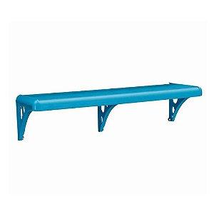 Prateleira Com Suporte De Plastica Azul 60x20 Astra
