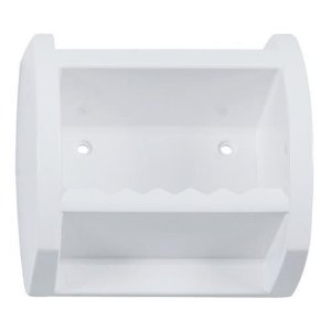 Saboneteira De Plástico Grande Branco Astra