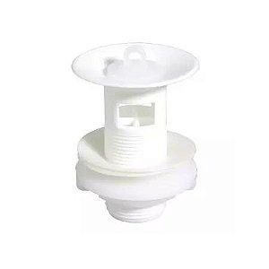 Válvula Para Lavatório Branco Com tampa Ladrão Astra