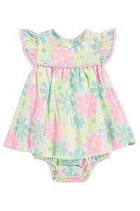 Vestido Bebê Body Primavera